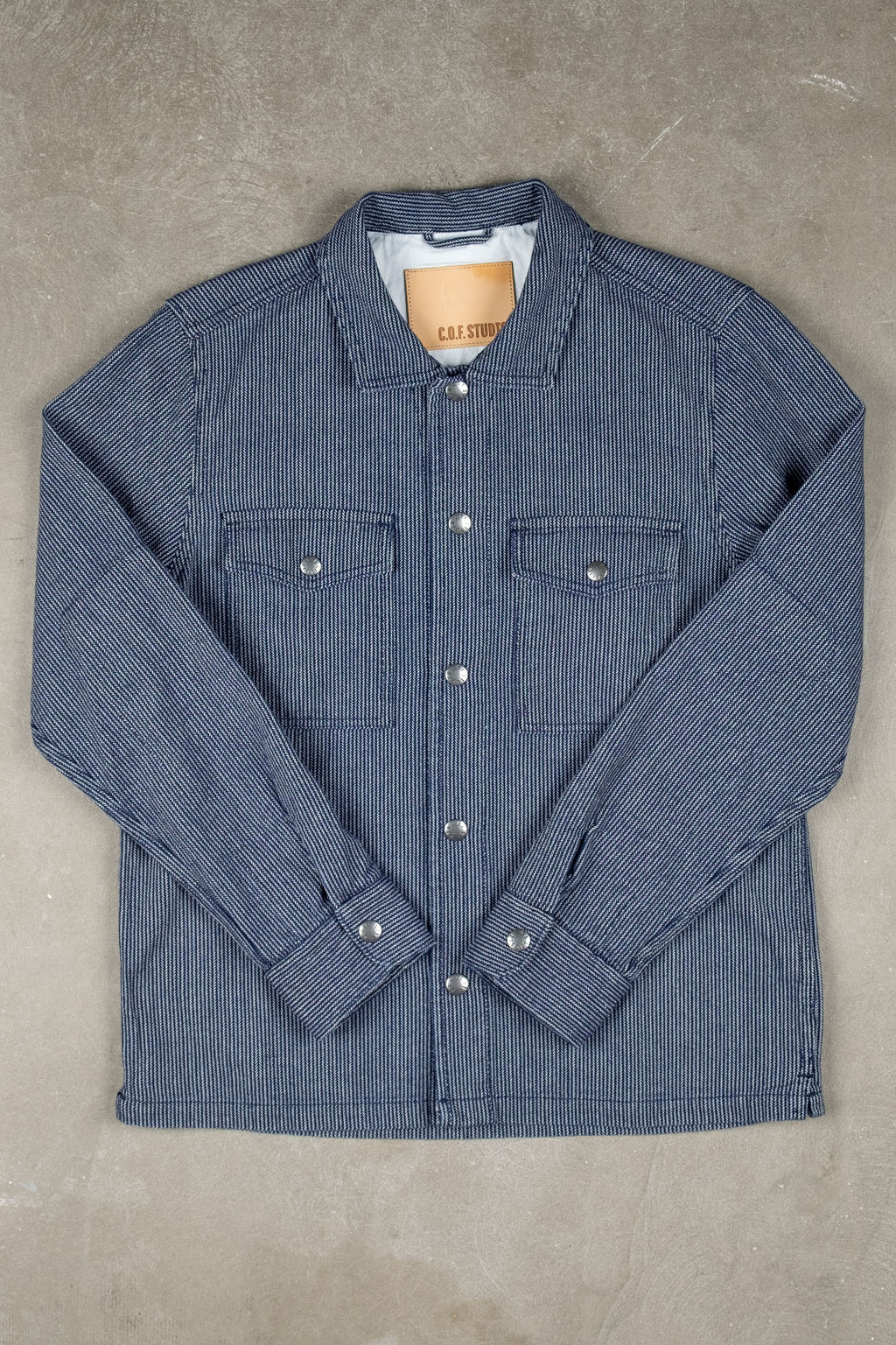 Trucker Shirt Herringbone Hickory - Enzyme