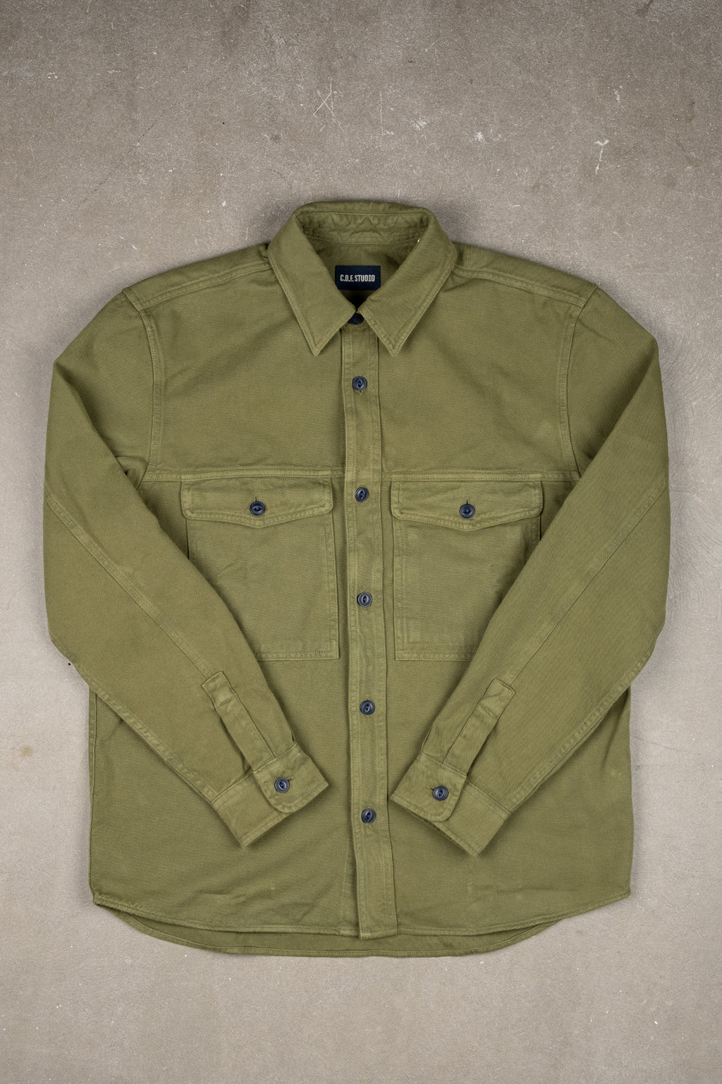 Shacket Brushed Twill - Military