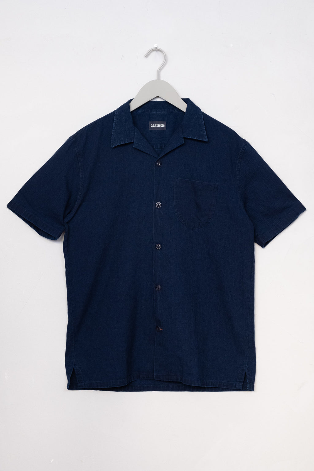 Camp Shirt Structured Indigo Cotton - Enzyme