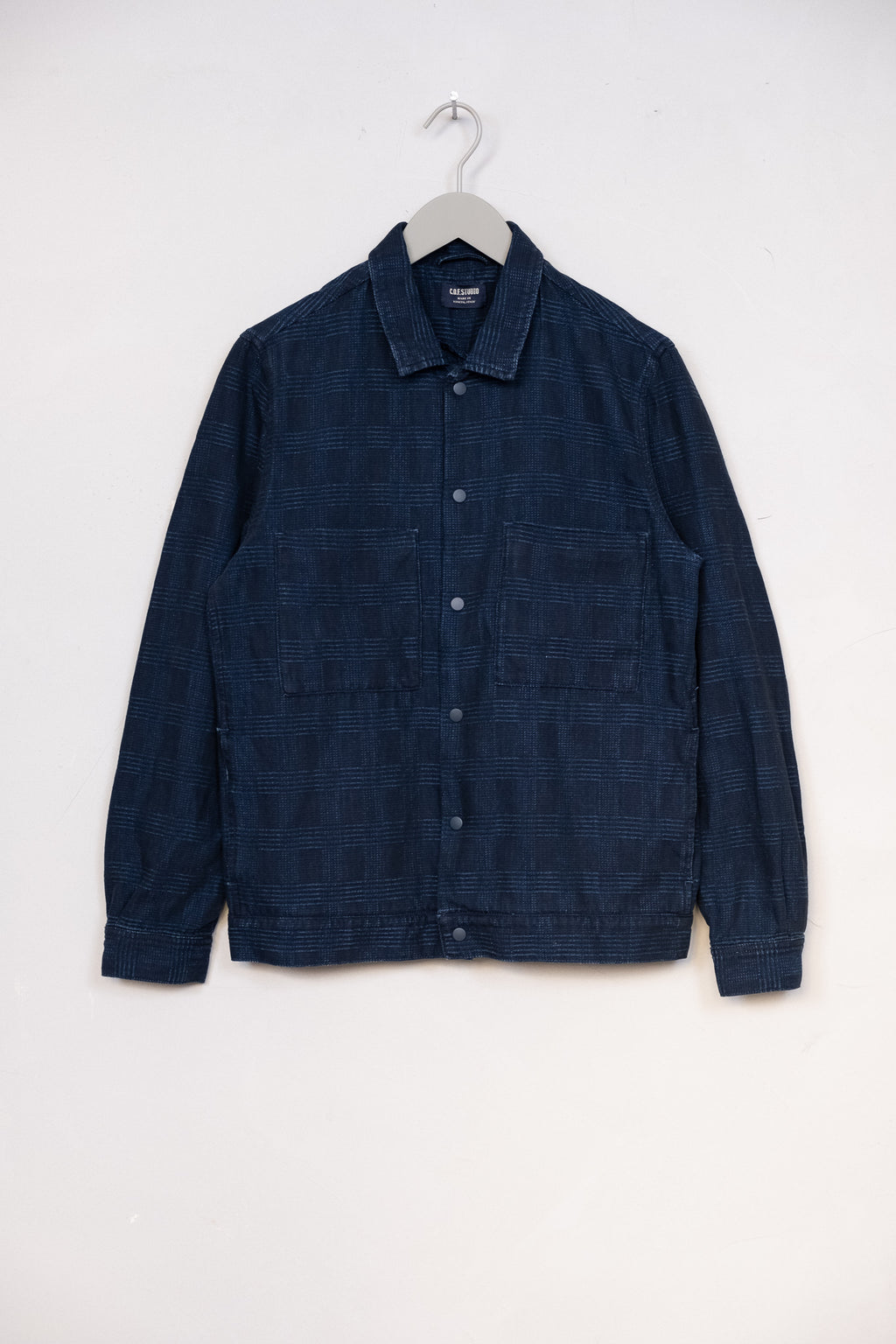 Cruise Jacket Indigo Prince of Wales - Enzyme