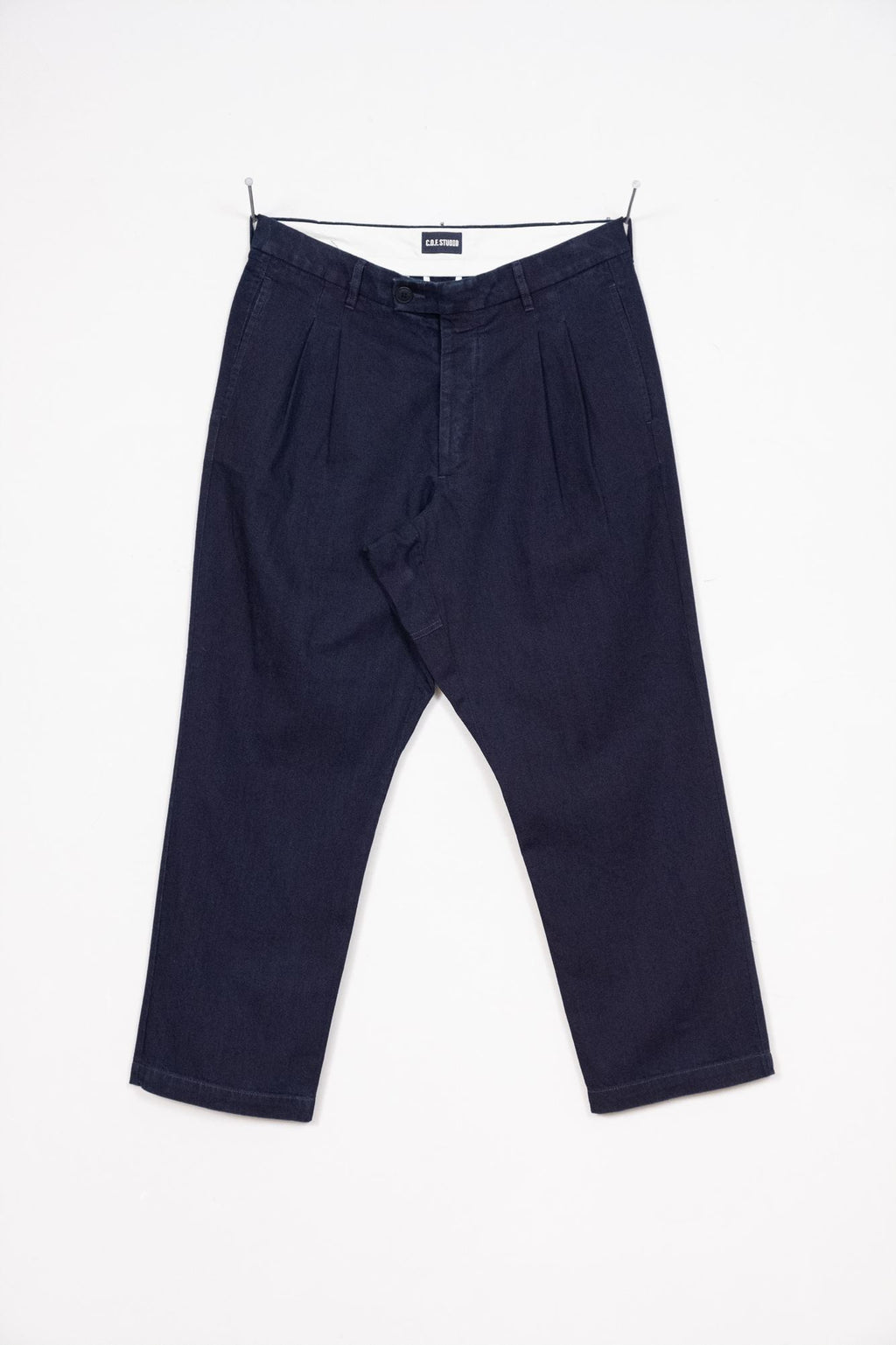 Double Pleated Trouser - Indigo