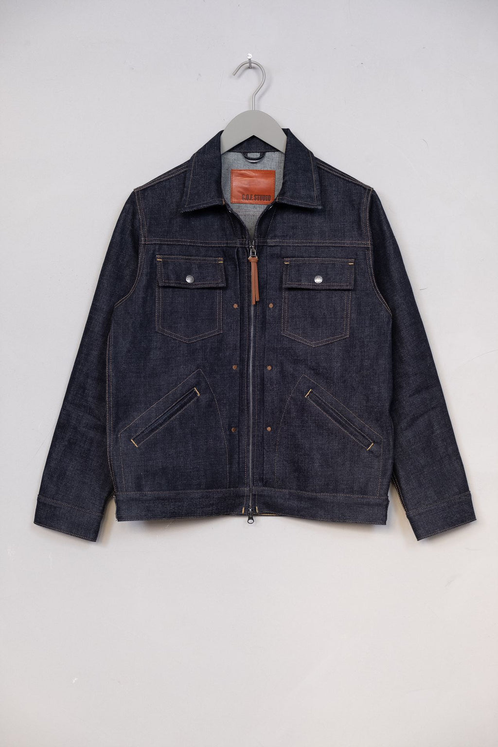 Denim Zip Jacket 15oz - Rinsed