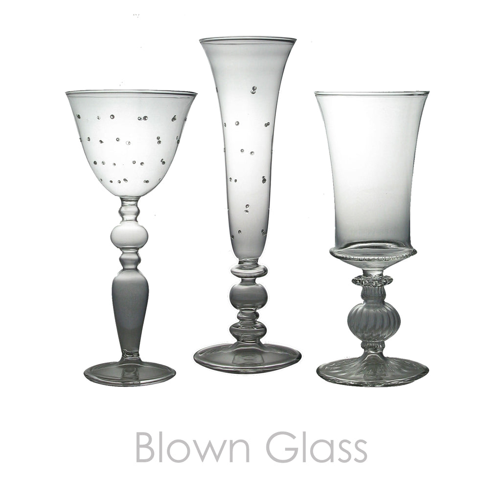Blown Glass Stemware