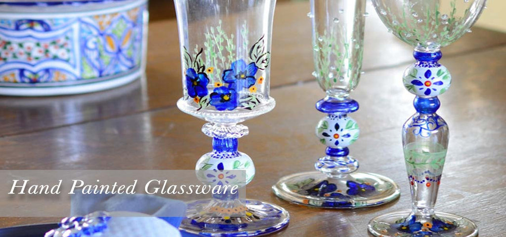 Hand Painted Glassware Collections Made in the USA