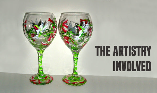 Artistry Wine Glasses Hand Painted