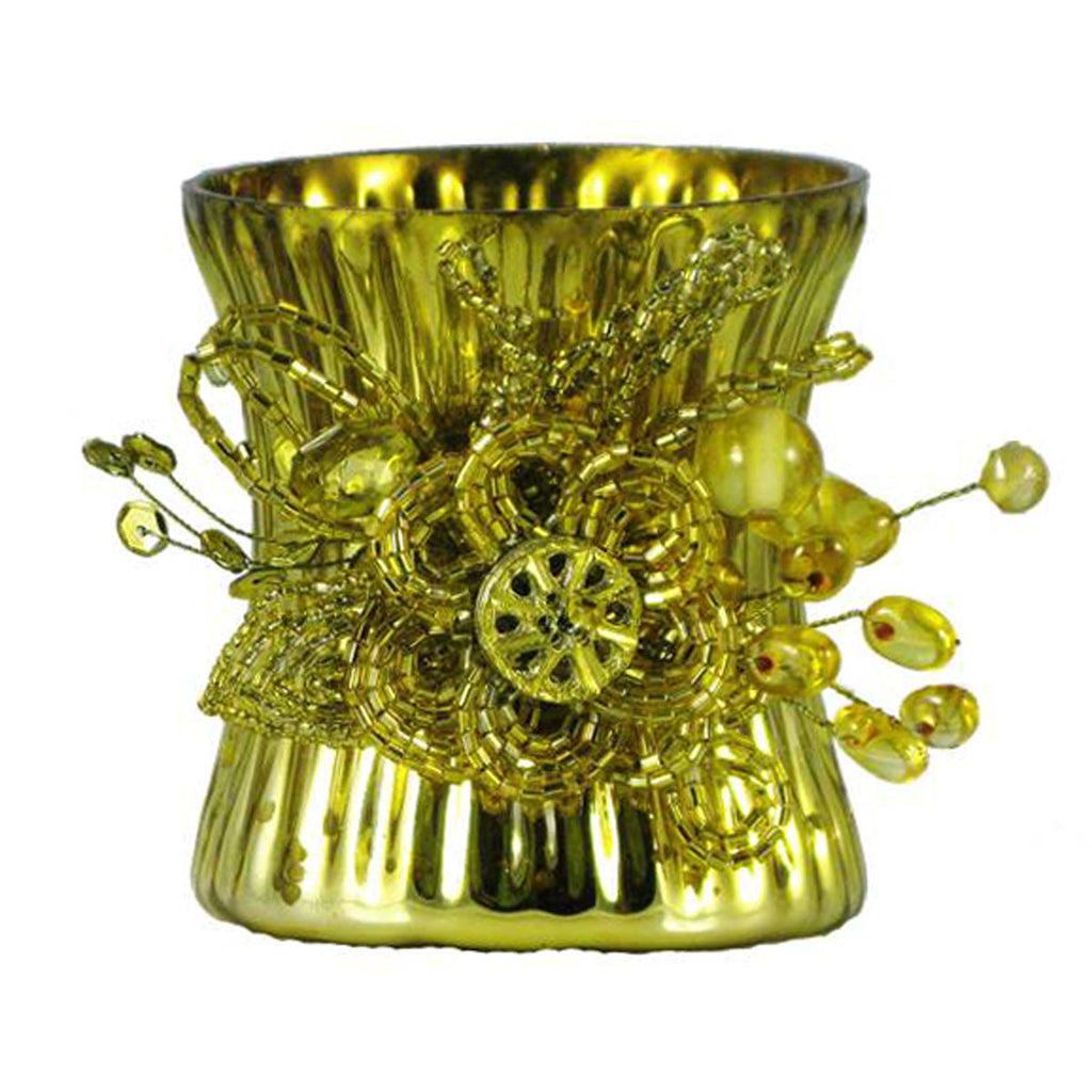 Votive Holder Gold - Golden Hill Studio