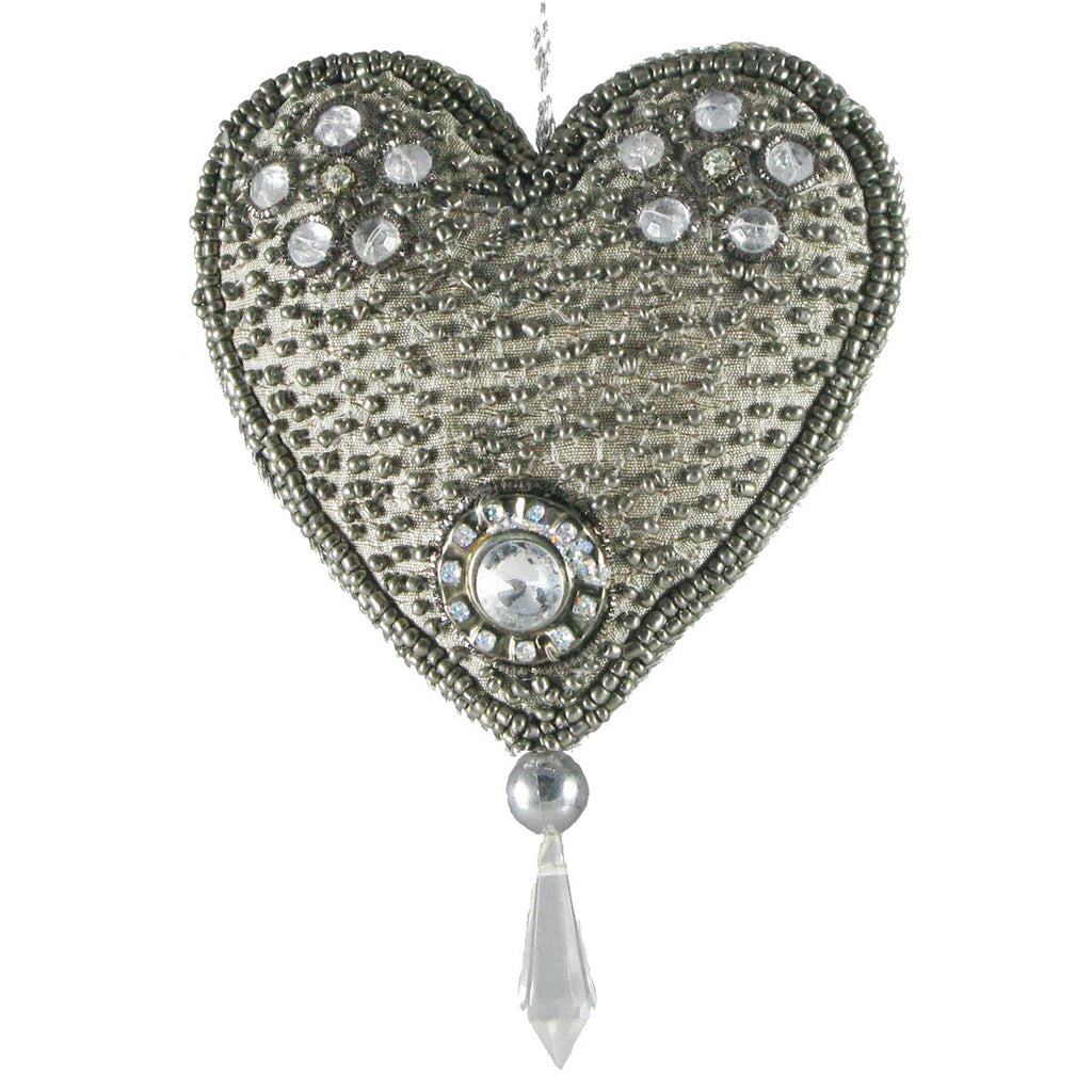 Beaded Heart - Golden Hill Studio