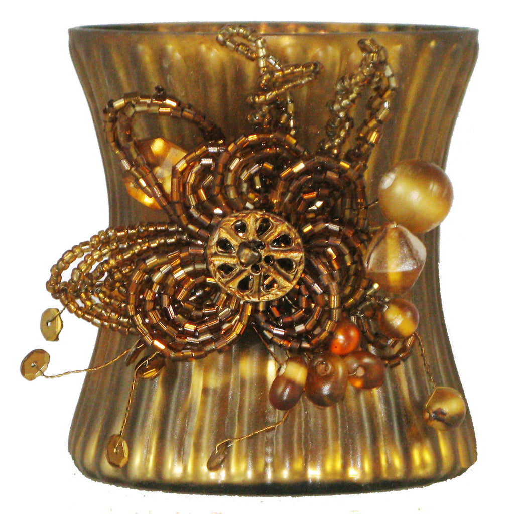 Votive Holder Amber - Golden Hill Studio