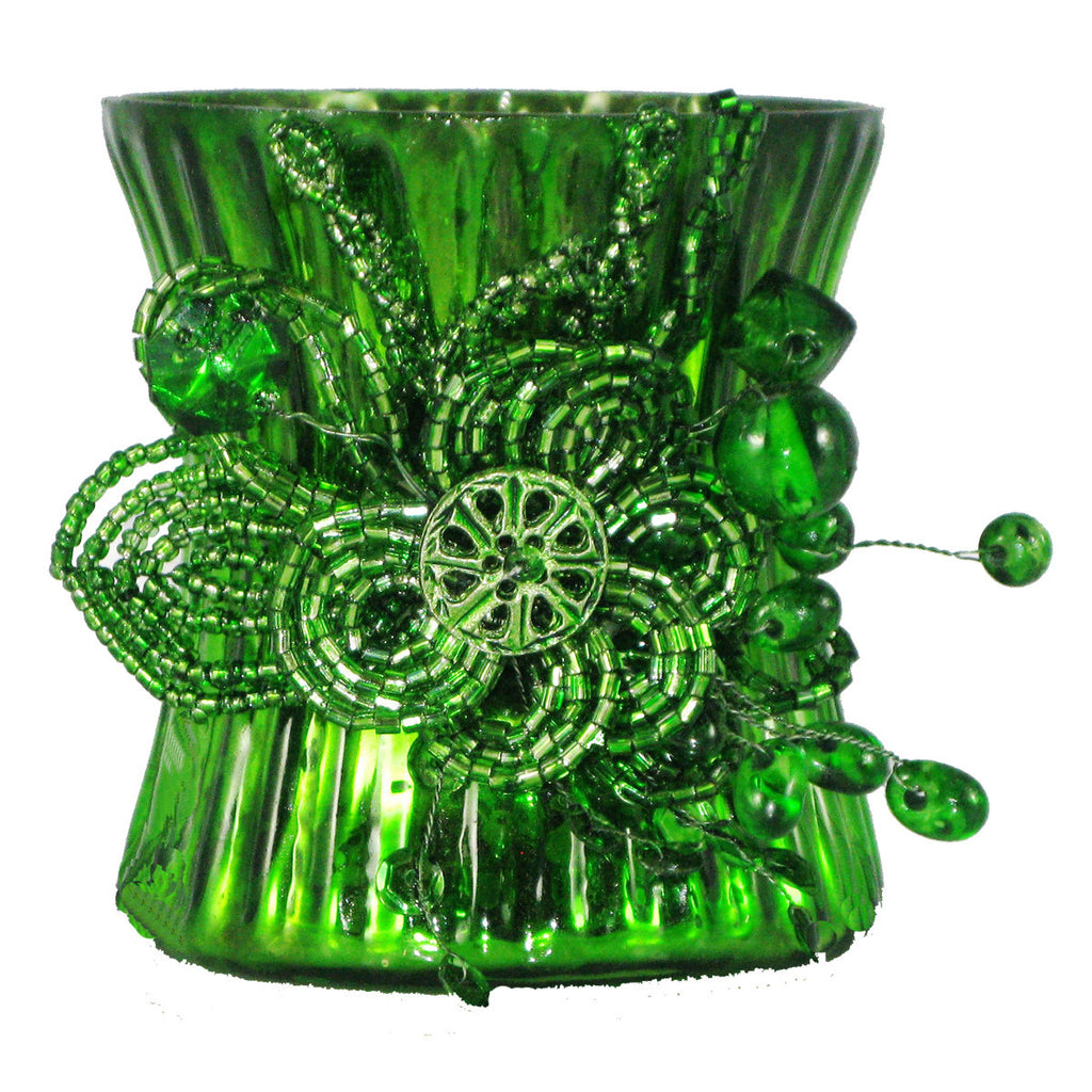 Votive Holder Emerald Green - Golden Hill Studio