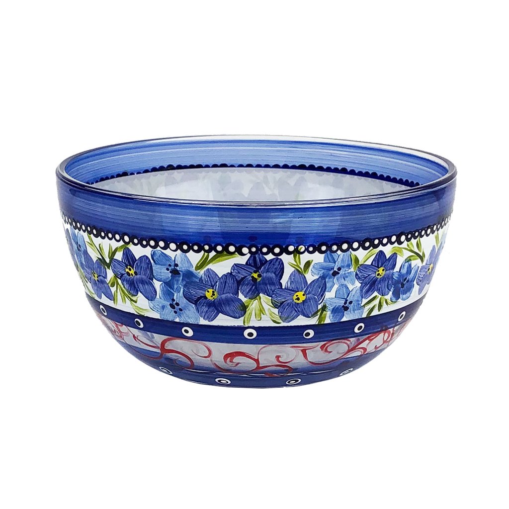 "Barcelona Blue Flowers 6"" Bowl - Golden Hill Studio"