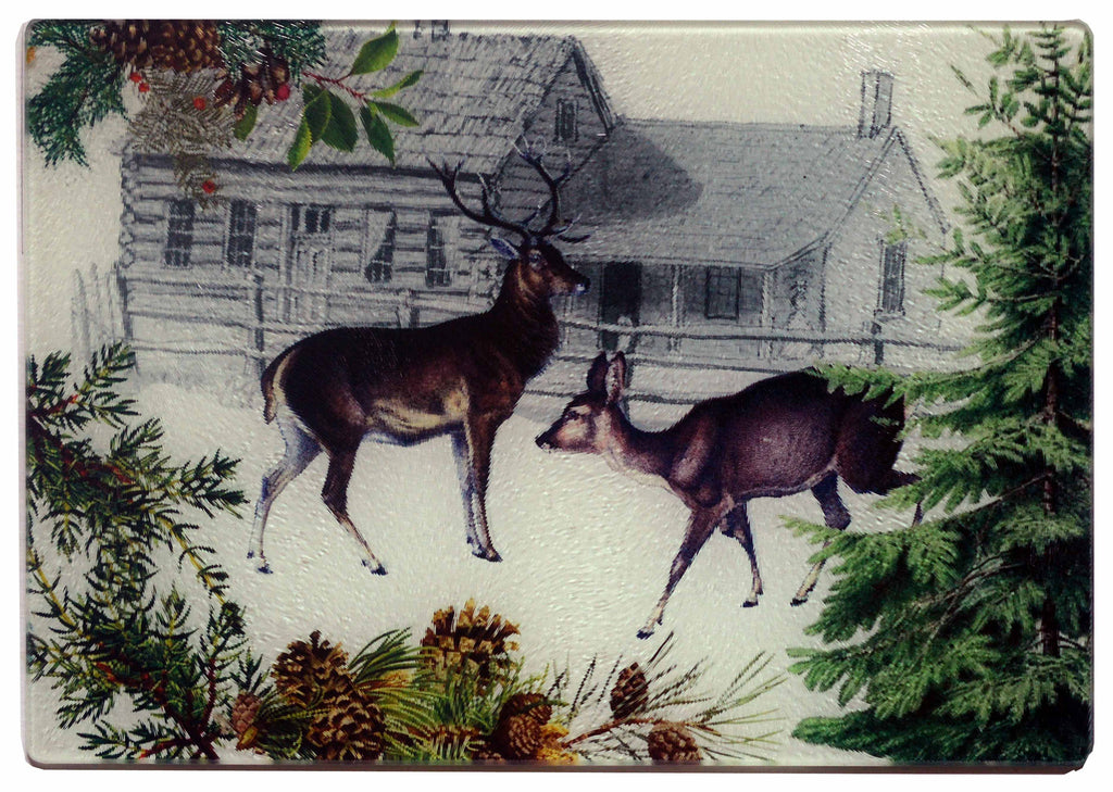 Deer & Doe Cheese Tray/Cutting Board - Golden Hill Studio
