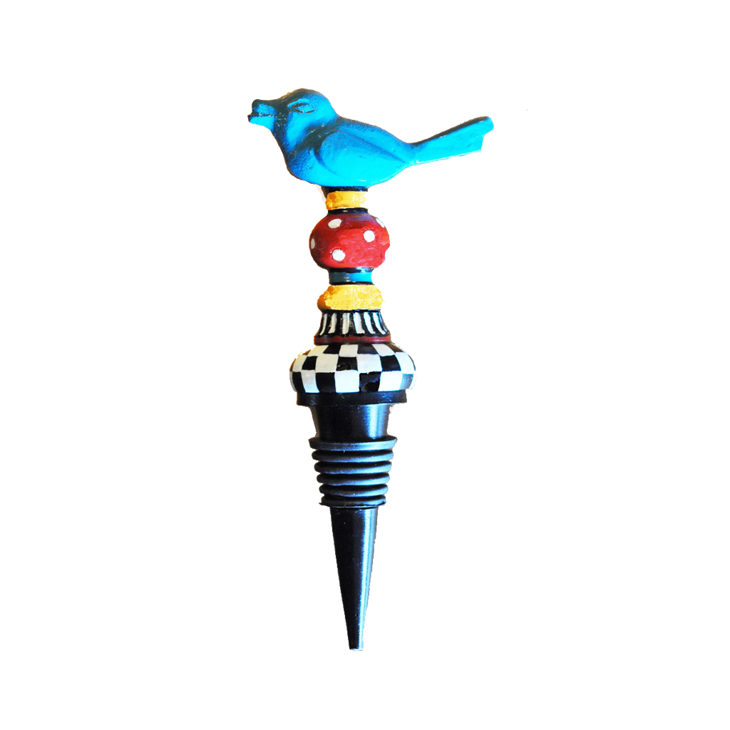Metal Bird Wine Bottle Stopper - Golden Hill Studio