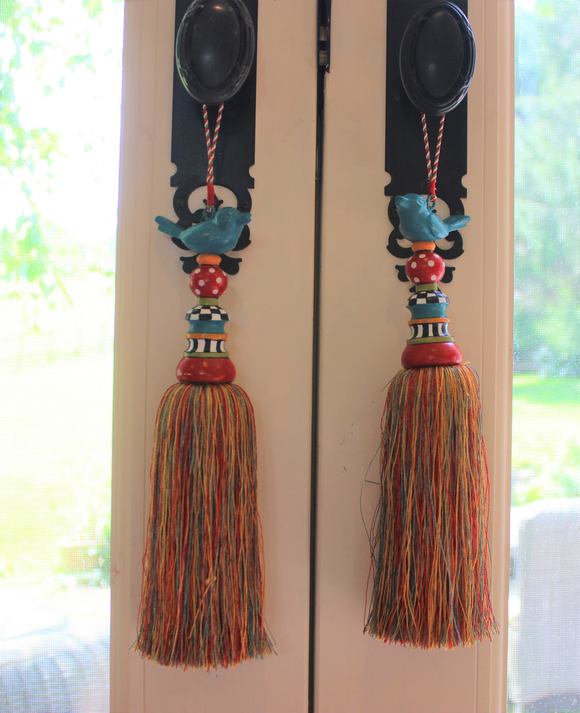 Metal Bird Tassel - Golden Hill Studio