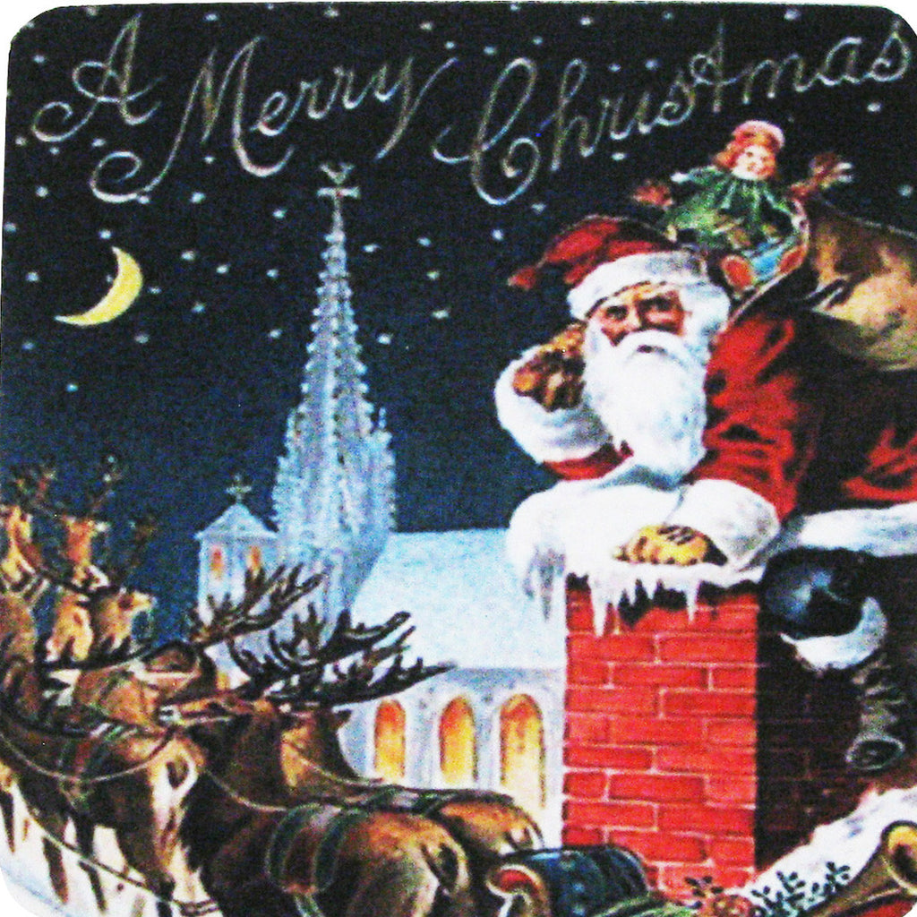 A Merry Christmas Coaster S/4 - Golden Hill Studio