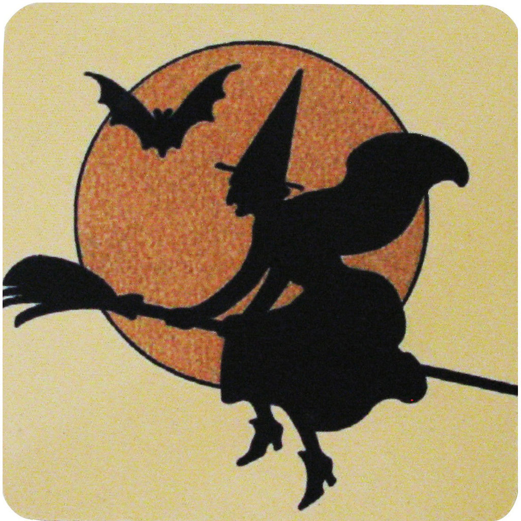 Witch Outline Coaster S/4