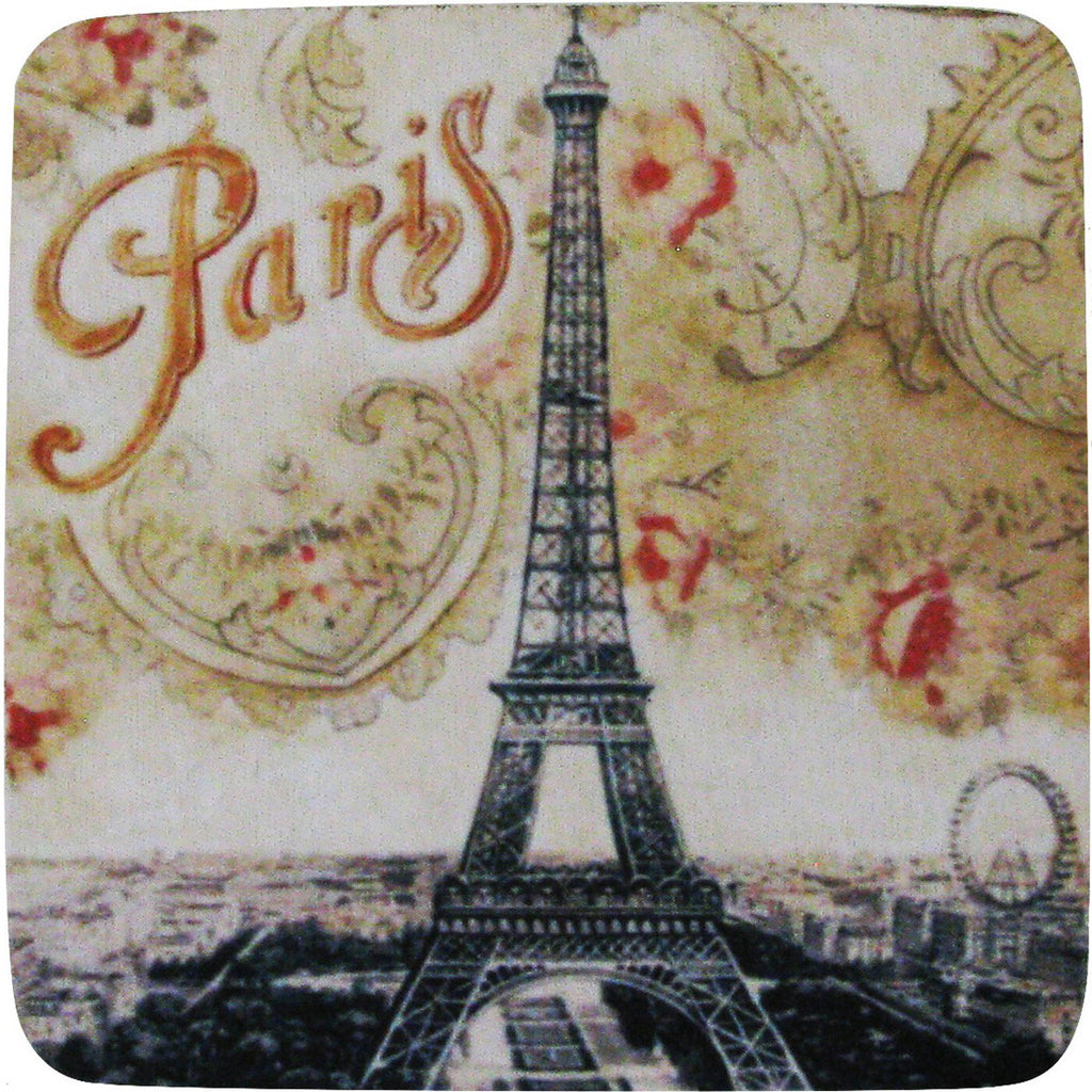 Paris Floral Coaster S/4 - Golden Hill Studio