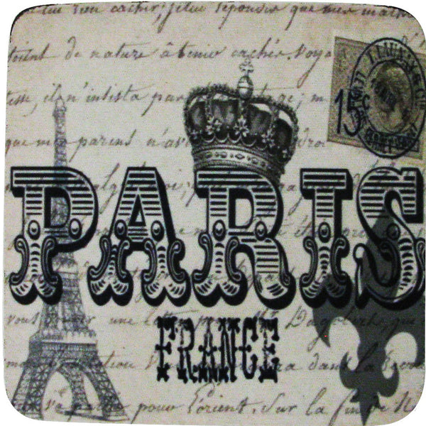 Paris France Coaster S/4 - Golden Hill Studio