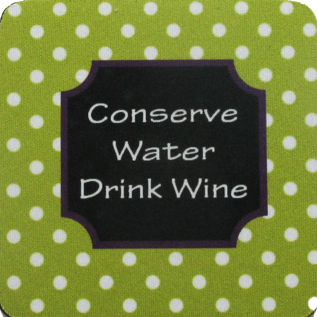 Conserve Water/Stripes Coaster S/4 - Golden Hill Studio
