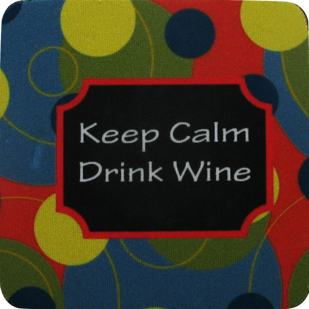 Keep Calm/Stripes Coaster S/4 - Golden Hill Studio