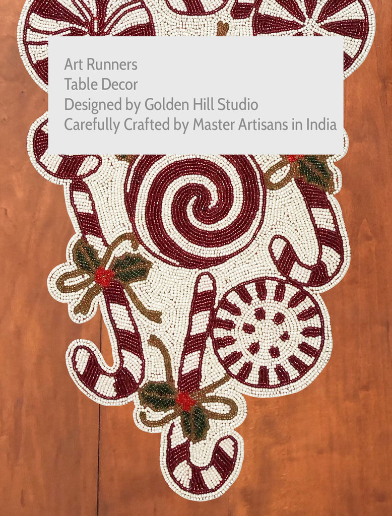 Candy Cane Table Runner - Golden Hill Studio