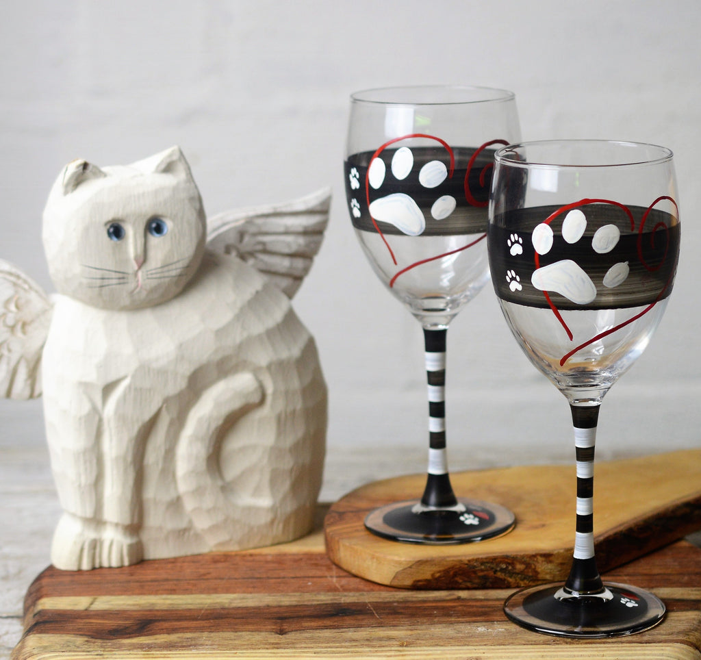 Warm Paws Wine   Set of 2 - Golden Hill Studio