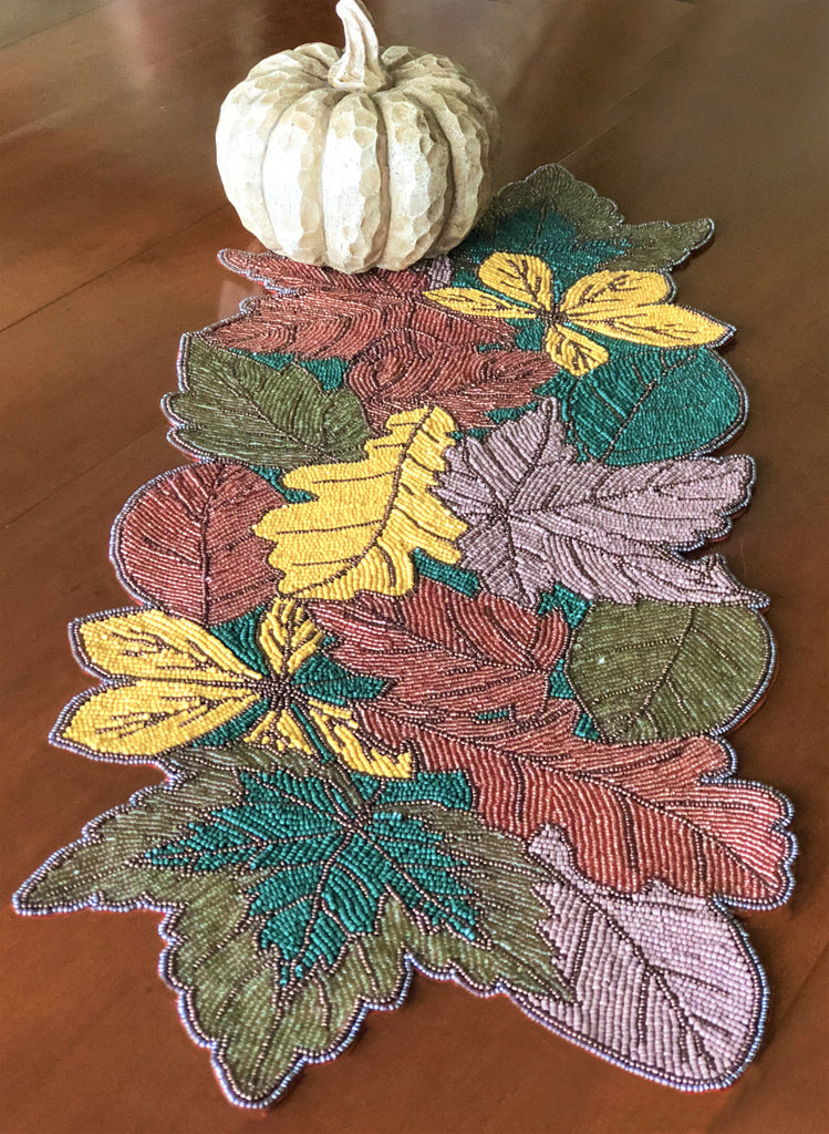 Autumn Leaves Table Runner - Golden Hill Studio