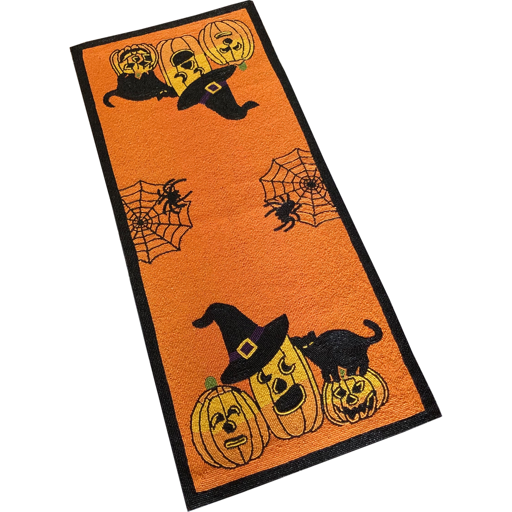 Halloween Beaded Table Runner