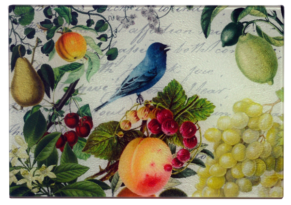 Bluebird & Fruit Cheese Tray/Cutting Board
