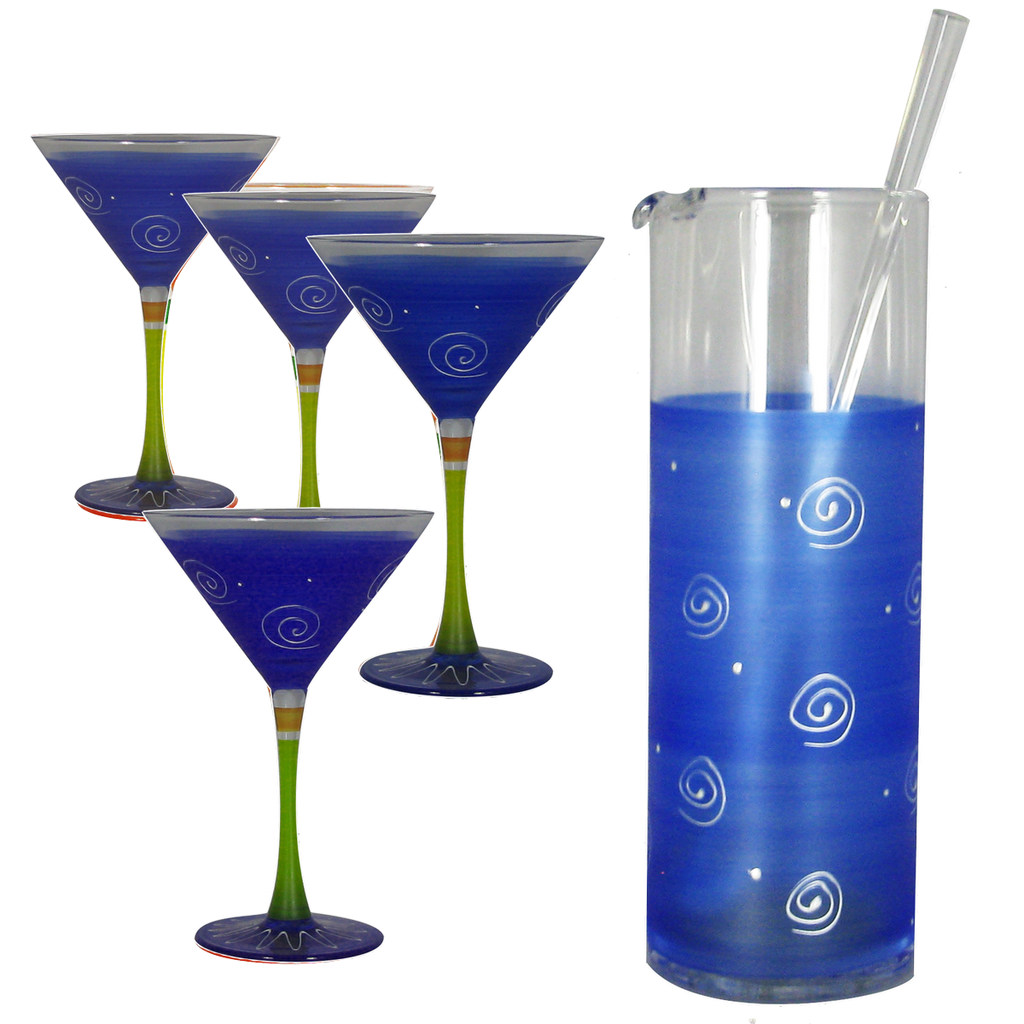 Peruvian Splendor Dark Blue Martini Bundle