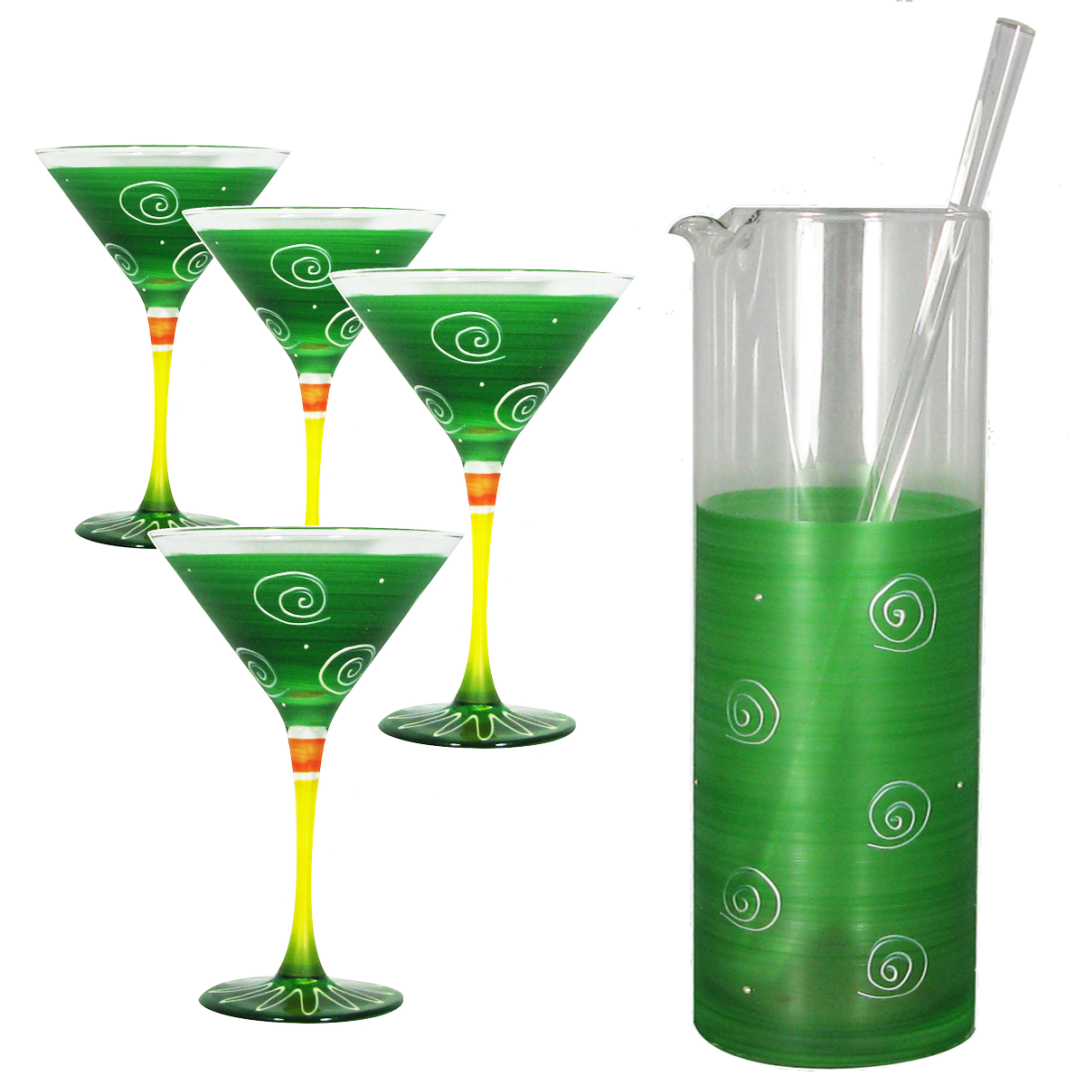Peruvian Splendor Dark Green Martini Bundle