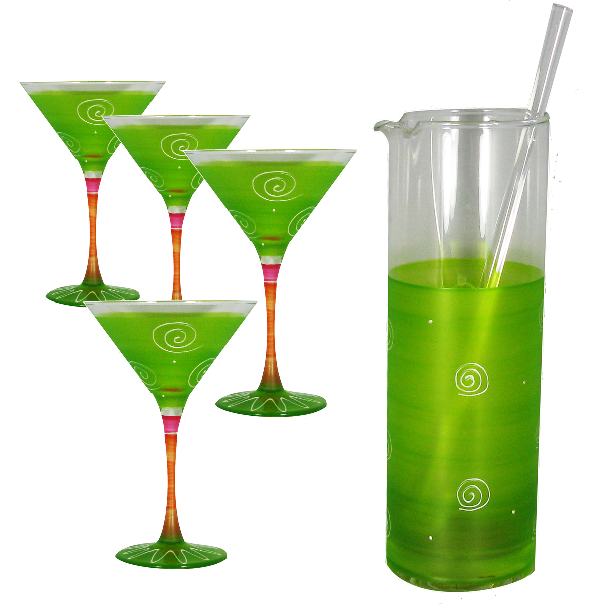 Peruvian Splendor Light Green Martini Bundle