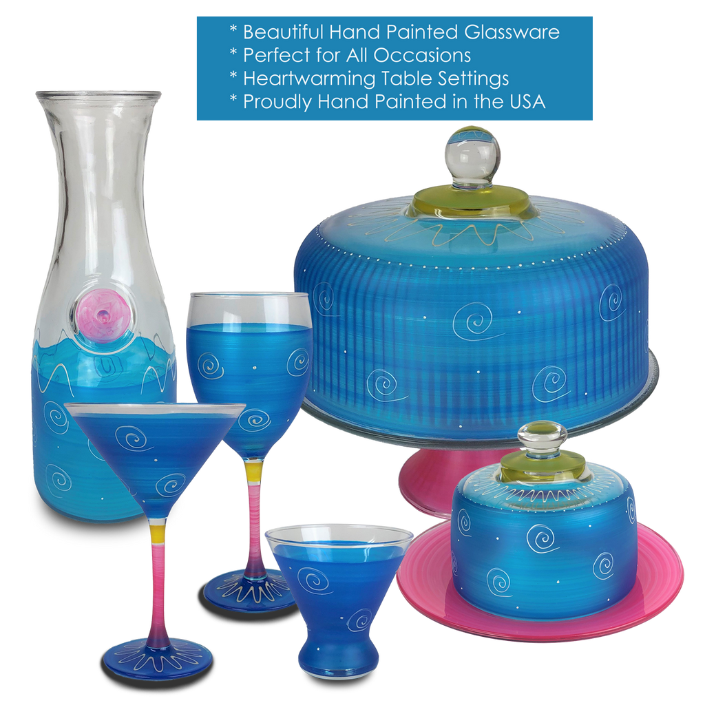 Peruvian Splendor Turquoise Martini   Set of 2