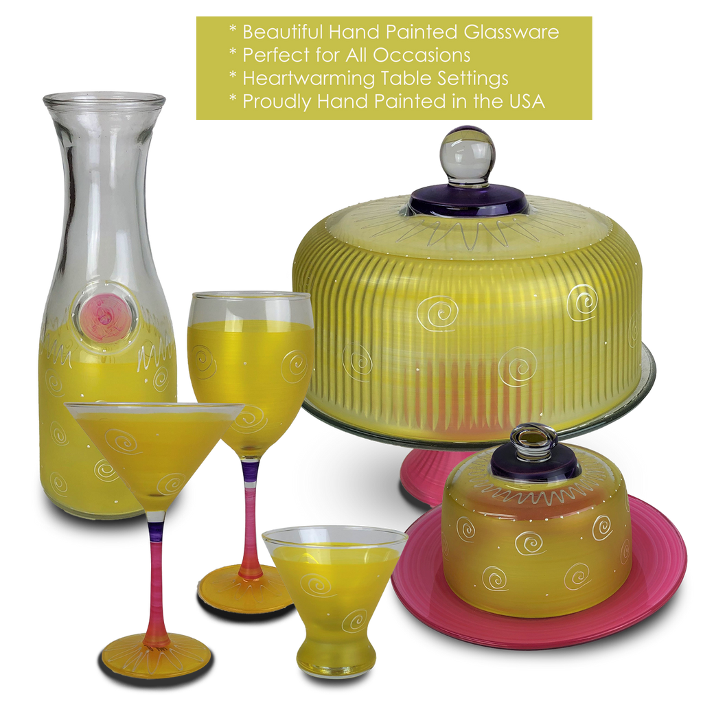 Peruvian Splendor Yellow Cosmopolitan   Set of 2 - Golden Hill Studio