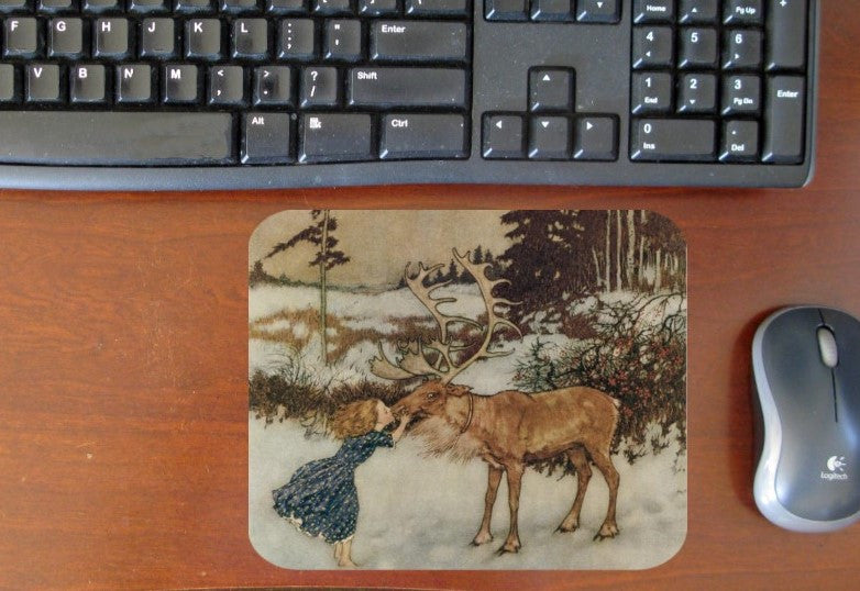 Gerta & the Reindeer Hot Pads/Mouse Pads