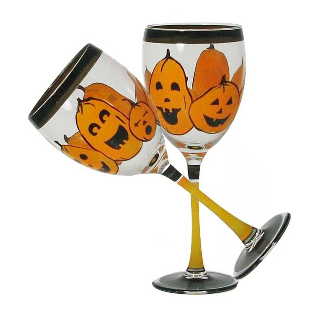 Pumpkin Family Wine Set of 2 - Golden Hill Studio
