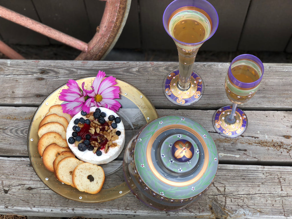 Moroccan Mosaic Lilac Cheese Dome - Golden Hill Studio