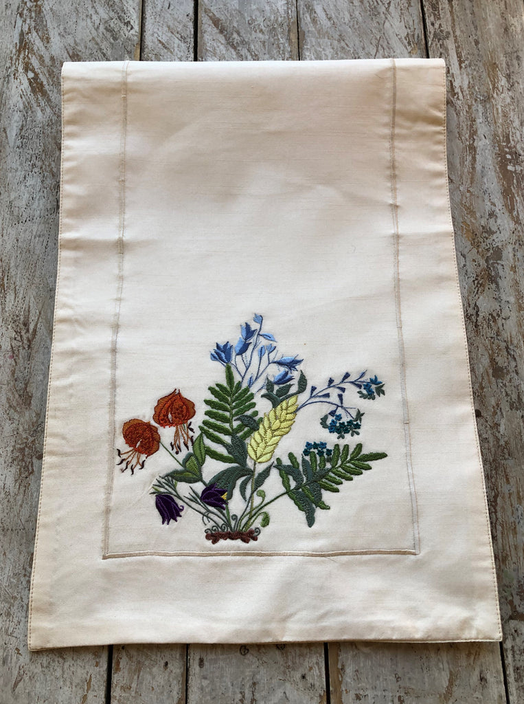 Wildflowers and Ferns Runner - Golden Hill Studio