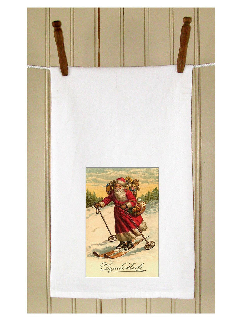 KT1005CH  Santa on Skis - Golden Hill Studio
