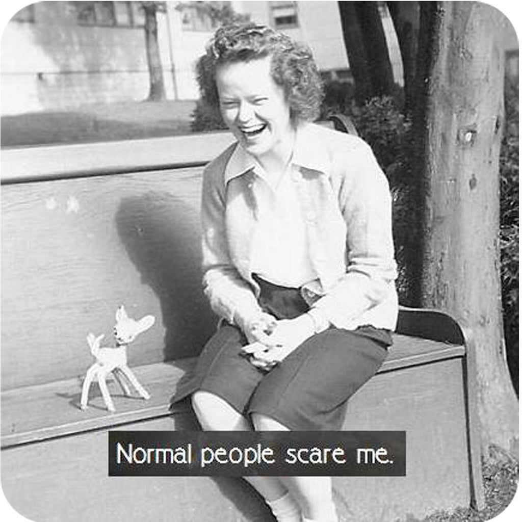 Normal People Coaster - Golden Hill Studio