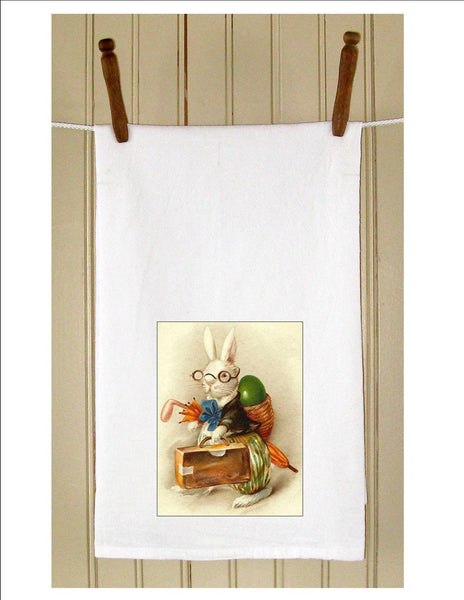 Bunny with Basket Backpack - Golden Hill Studio
