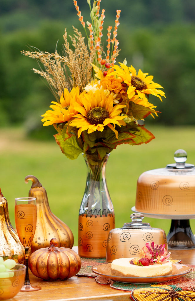Tuscan Sunset Dot Carafe