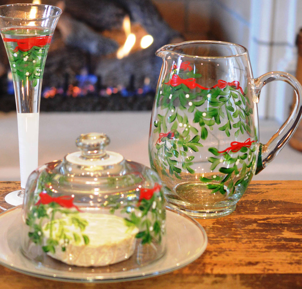 Mistletoe Love Pitcher - Golden Hill Studio