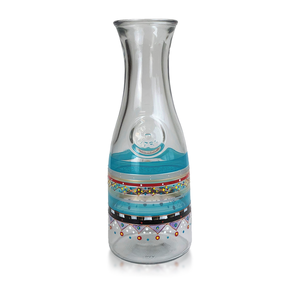 Moroccan Mosaic Carnival Carafe - Golden Hill Studio