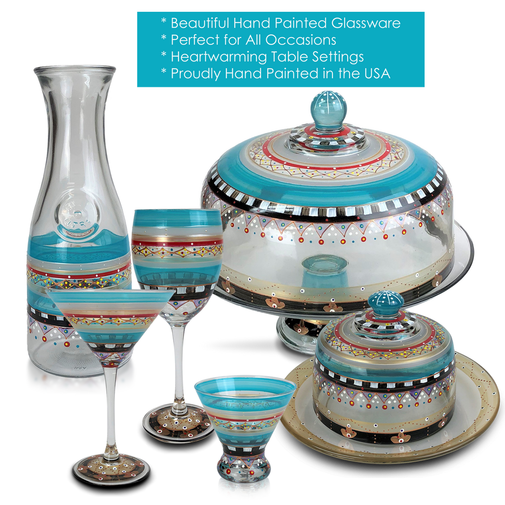 Moroccan Mosaic Carnival Champagne   S/2