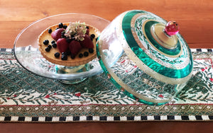Moroccan Mosaic Forest Lg Cake Dome