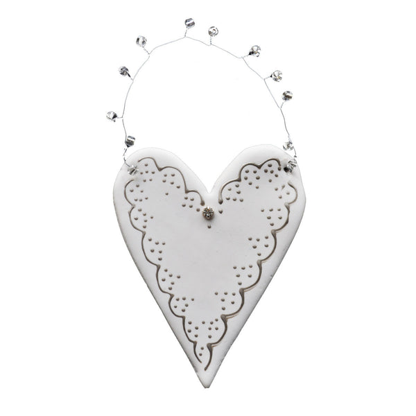 Clay Heart w/Pewter Scallop Edge - Golden Hill Studio