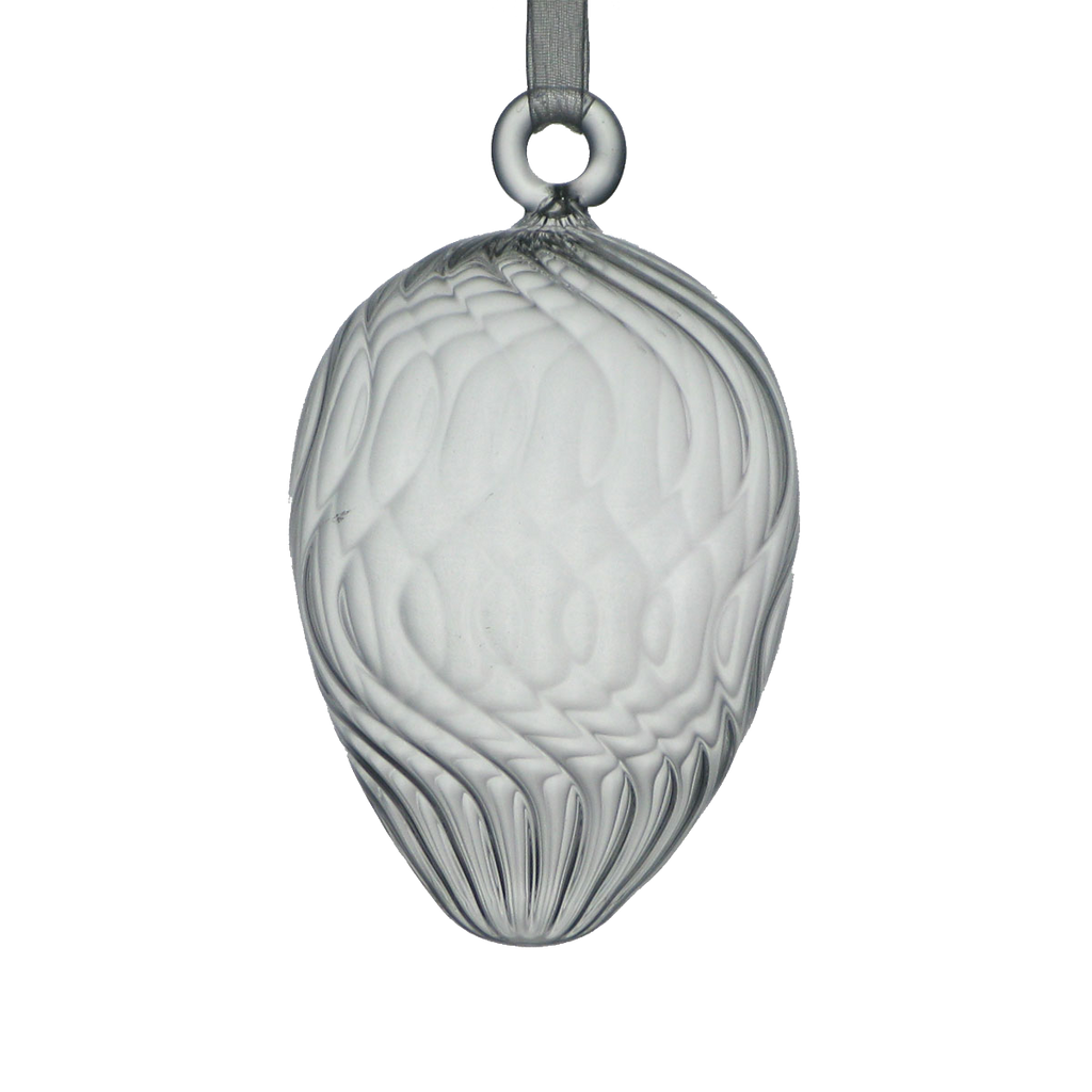 Glass Egg with Swirls - Golden Hill Studio