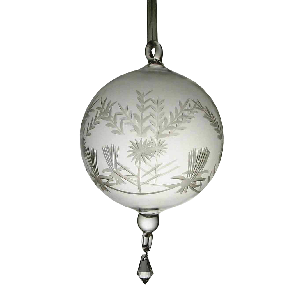 Glass Ornament with Etching - Golden Hill Studio