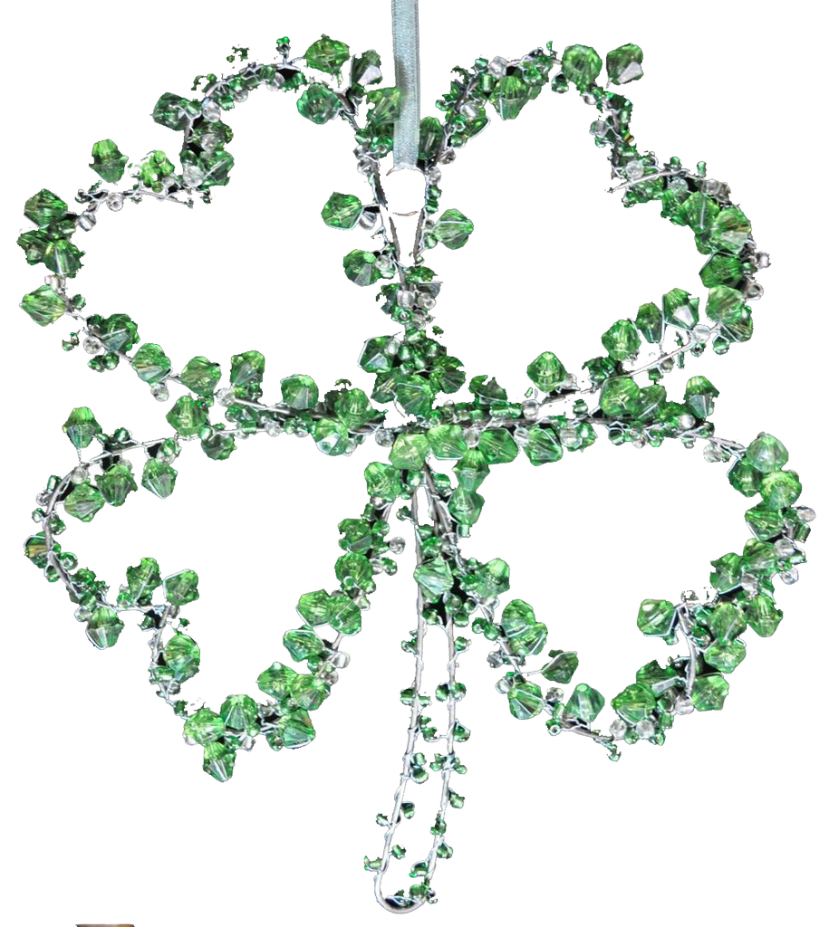 Beaded 4 Leaf Clover - Golden Hill Studio