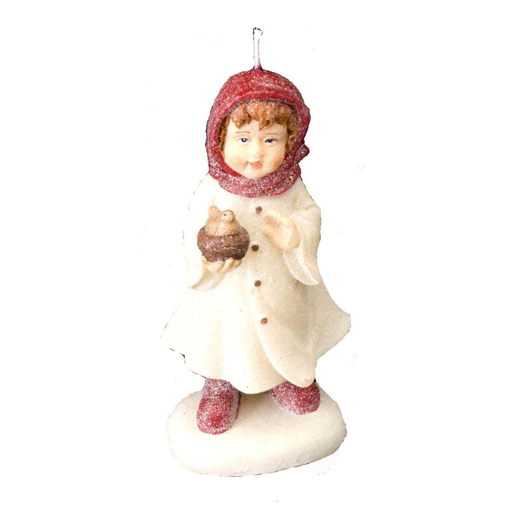 Caroling Girl Sugared: Candle Large - Golden Hill Studio